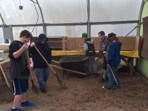LMS greenhouse cleanup january1