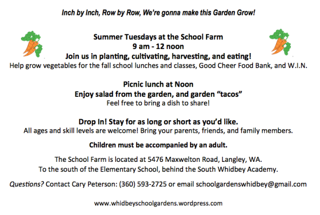 Tuesdays at the School Farm