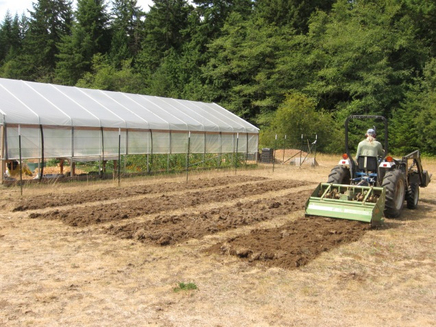 New beds being tilled for second grade curriculum