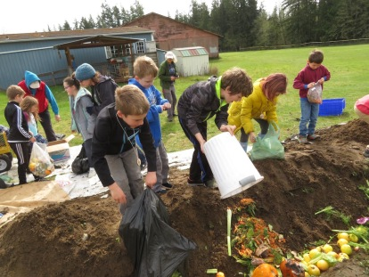 Food scraps nourish the soil!