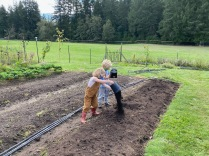 Covering with compost